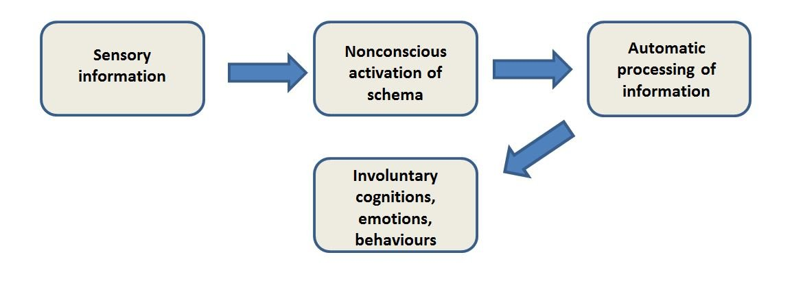 Diagram of how cognitive schema are activated