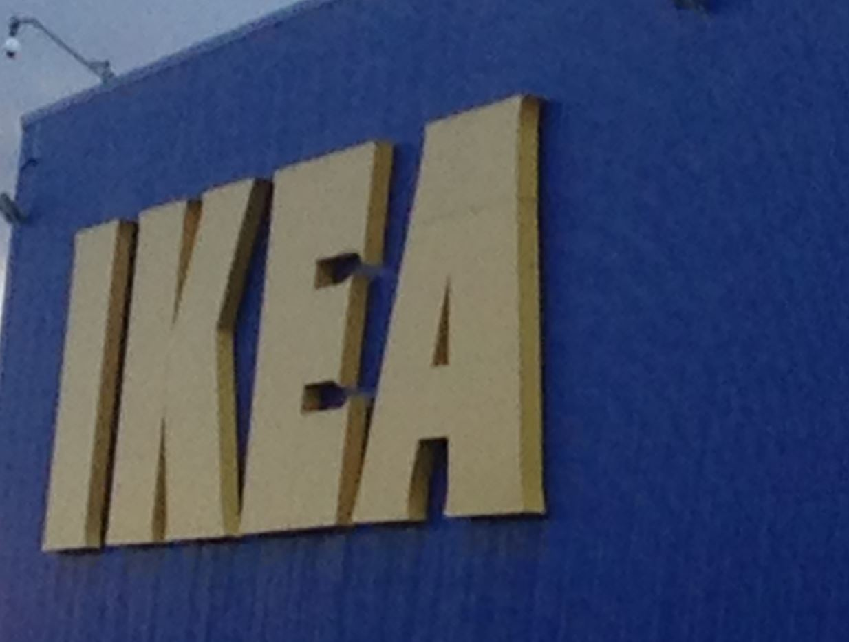 Image of IKEA logo on superstore
