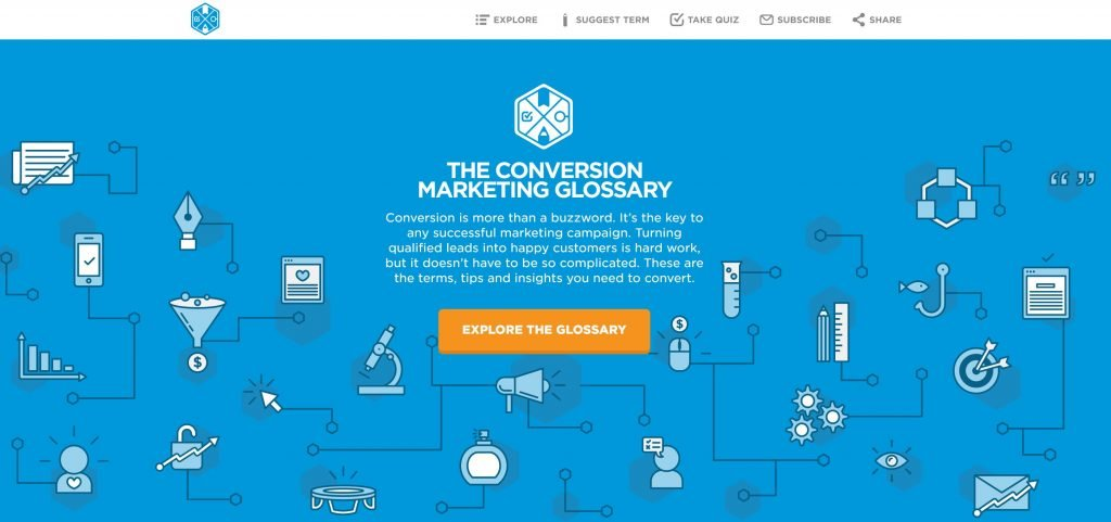 Image of Unbounce.com/conversion-glossary/
