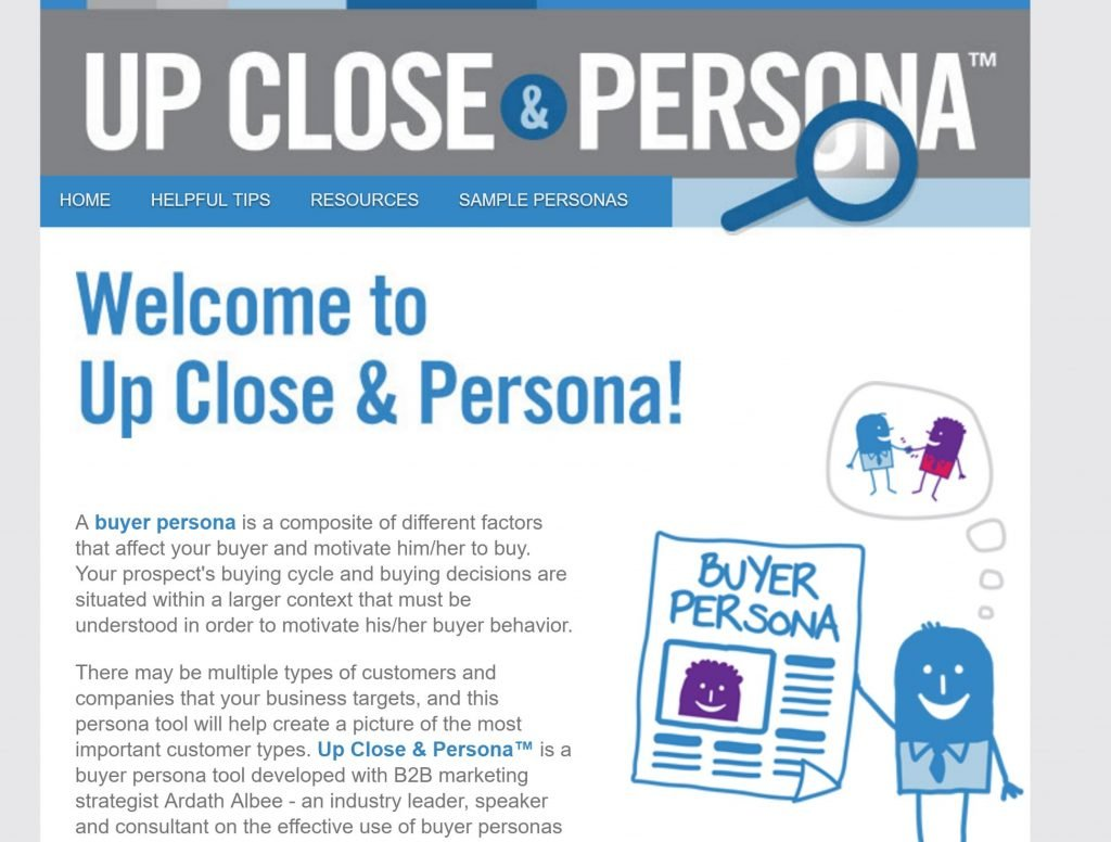 Upcoseandpersona.com homepage