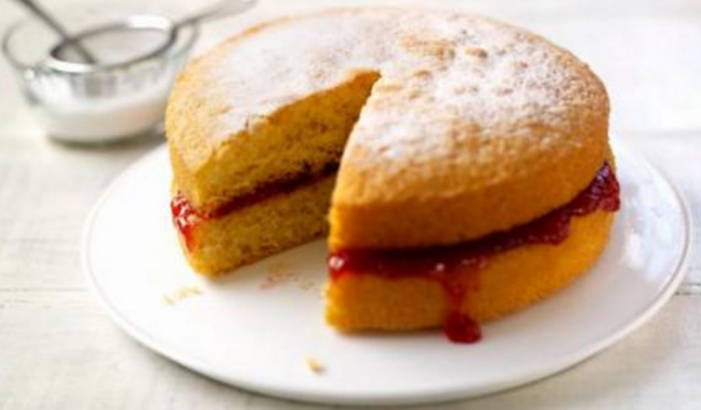 Image of a Victoria sponge cake