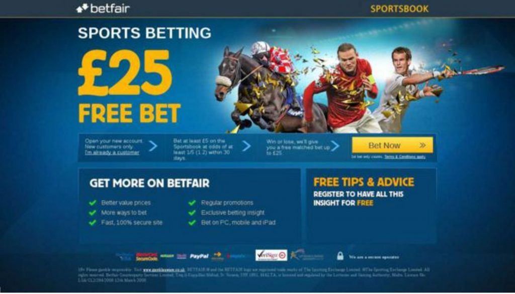 Image Betfair.com landing page with reciprocity