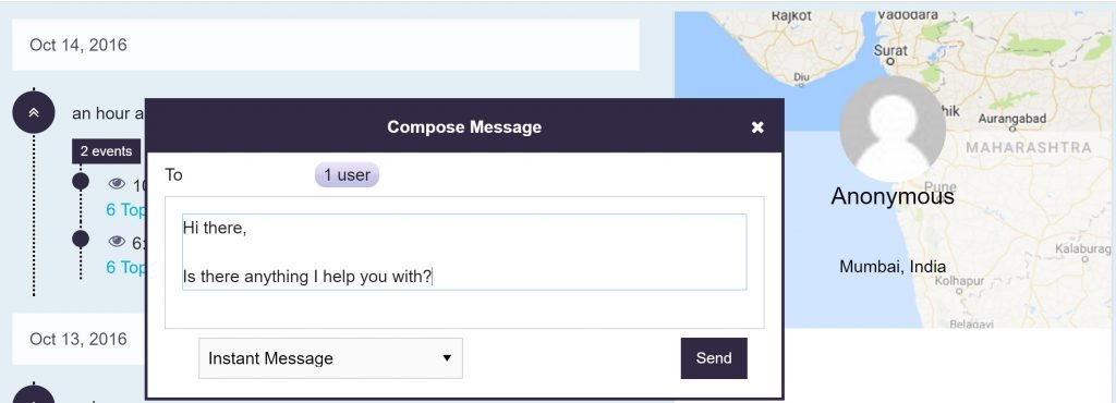 Image of composing a message using Crowdstream.io