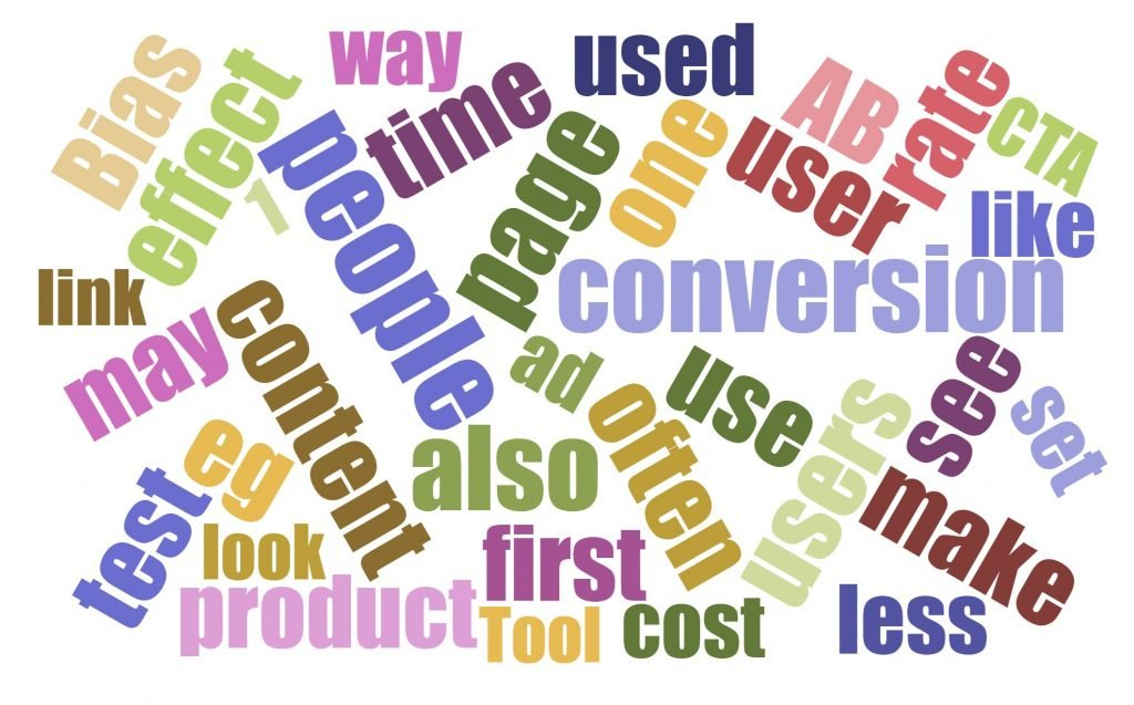 Image of conversion marketing word cloud