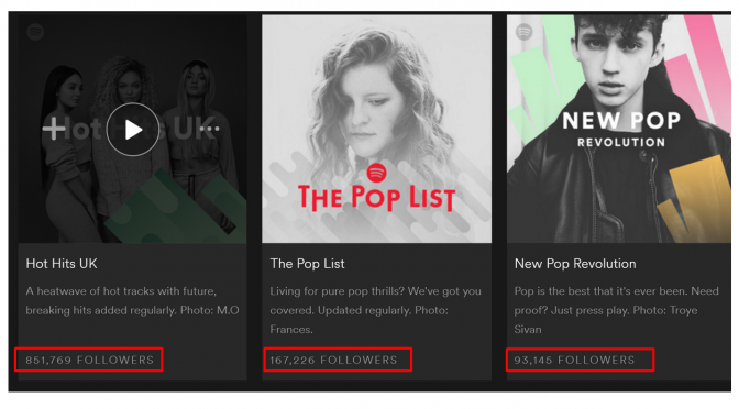 Image of Spotify app with social proof