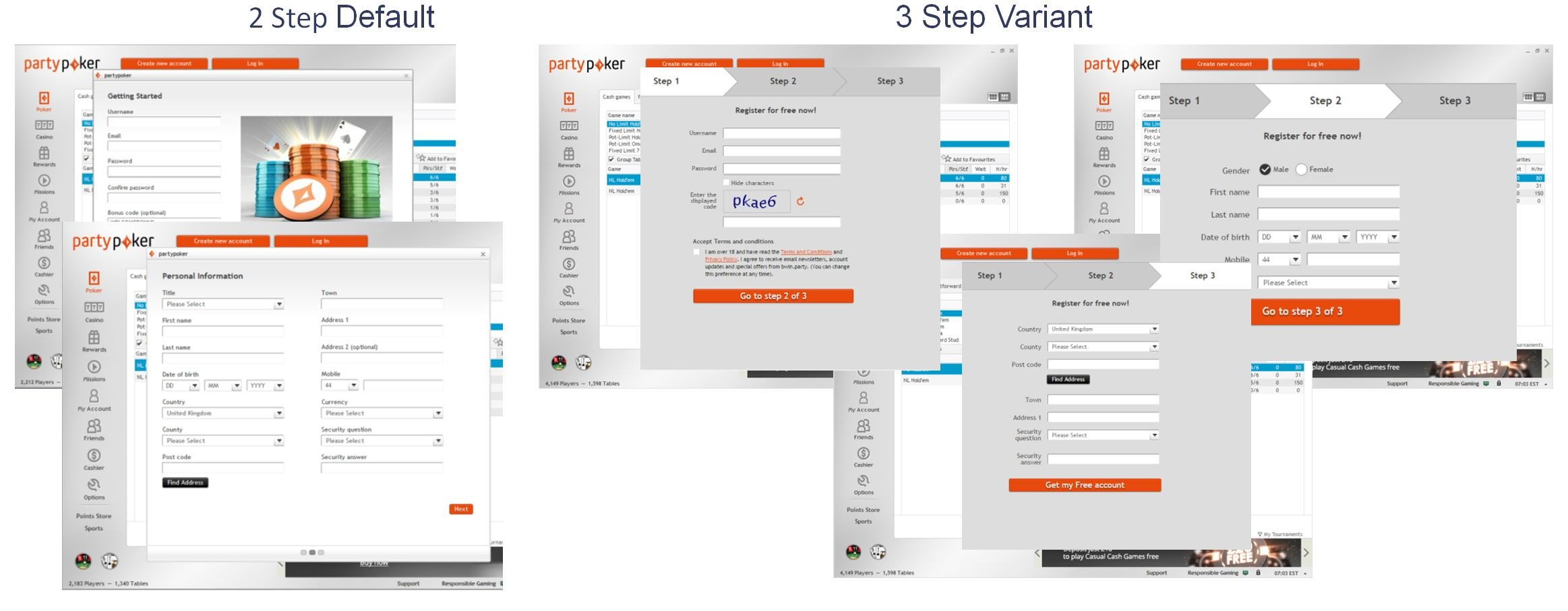 Split path tests allow you to change the order of number of steps in a multi-page journey