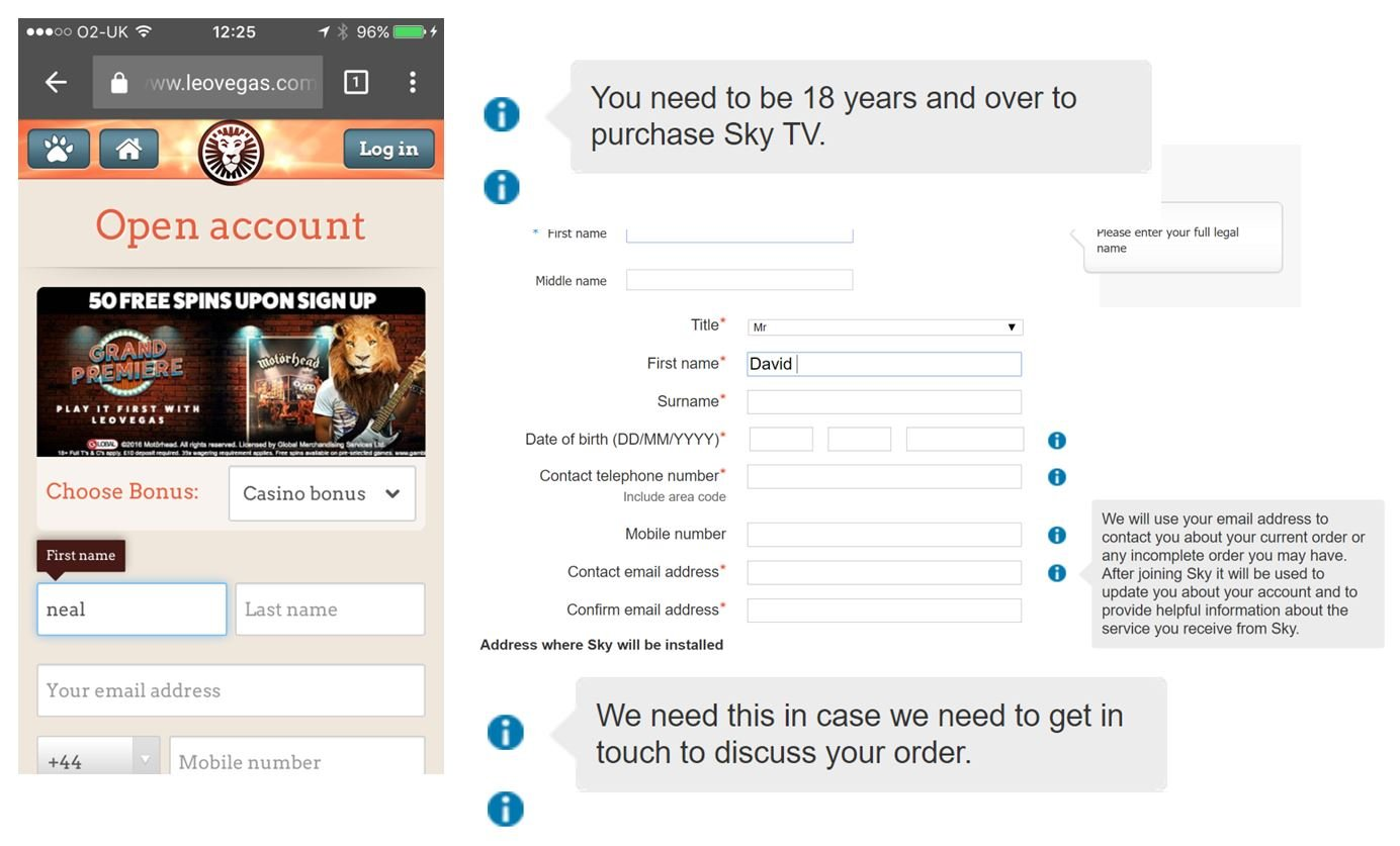 Tool tips can be very important for helping conversion with web forms