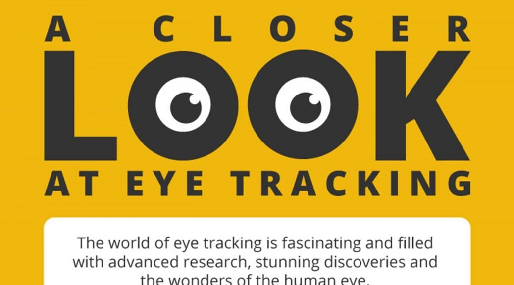 Image of banner promoting benefits of eye tracking