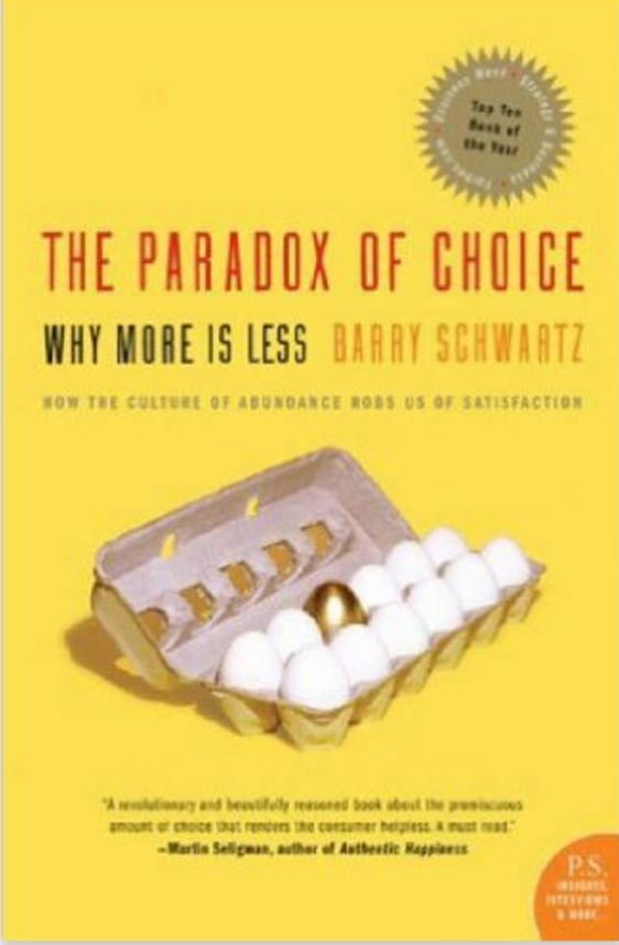 Image of The Paradox of Choice by Barry Schwartz
