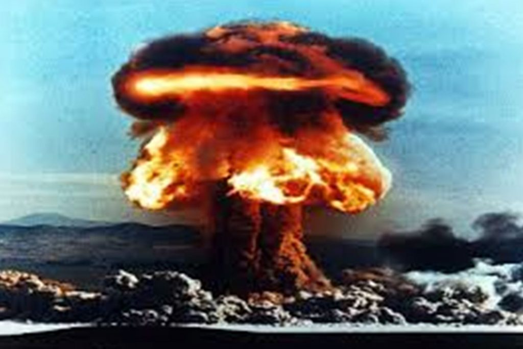 Image of a nuclear bomb exploding as movement is the nuclear option