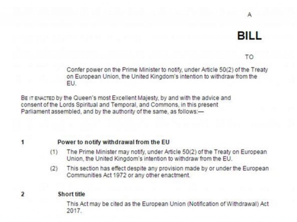 Image of Article 50 Bill