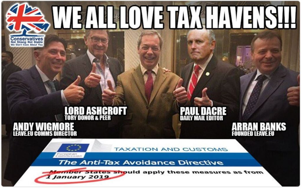 Stop Brexit to stop these supporters of Brexit avoiding tax