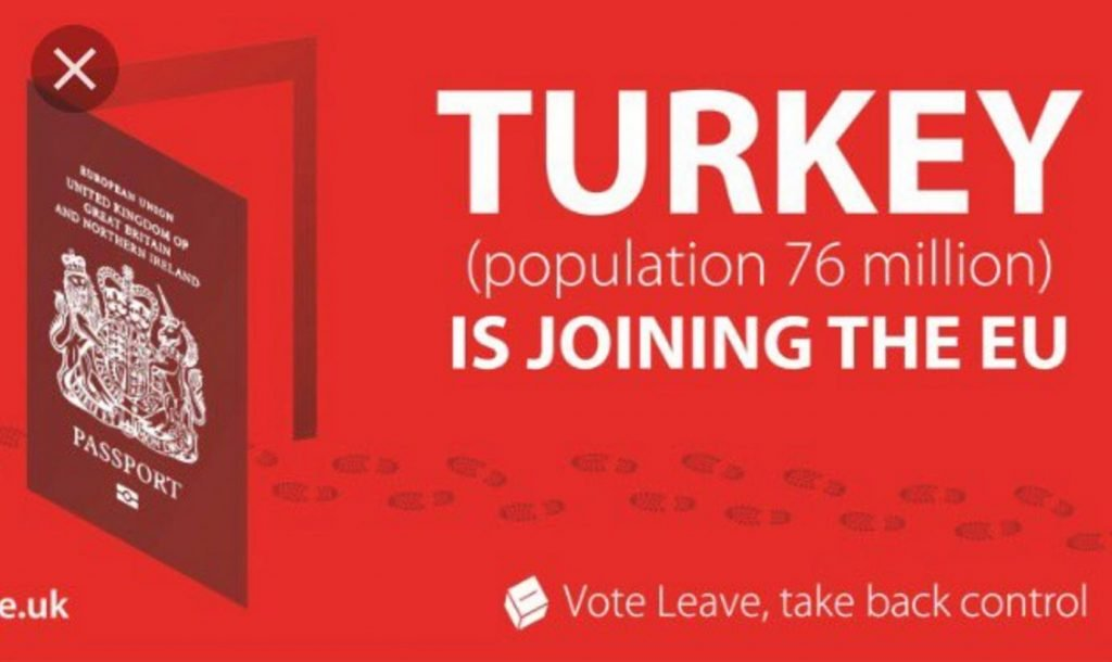 Leave campaign claim that Turkey was about to join the EU