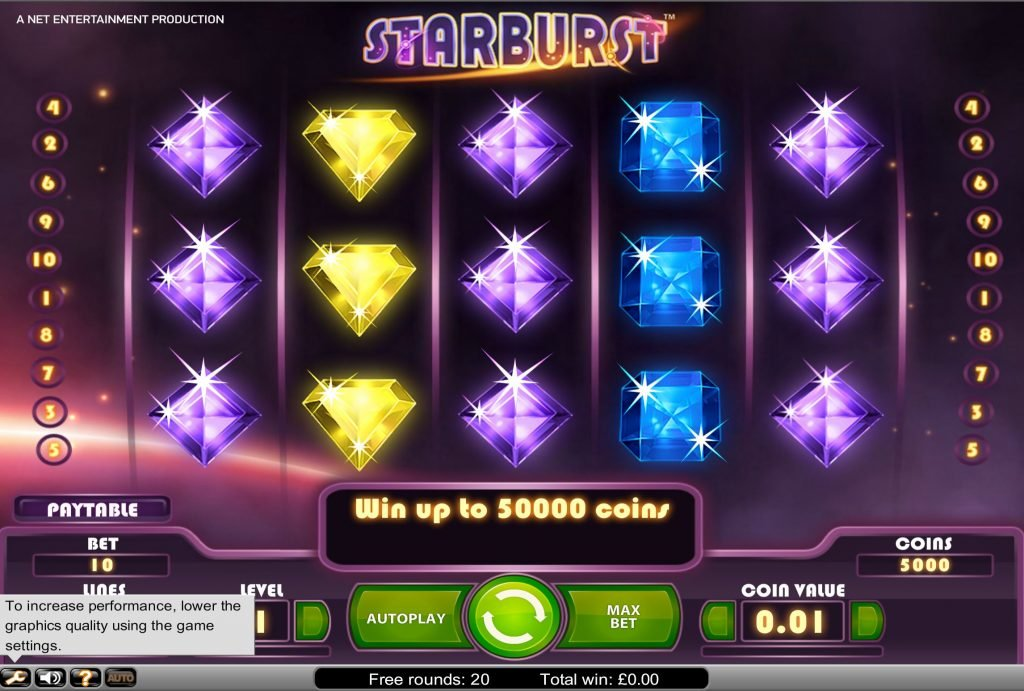 Image of Starburst slot game