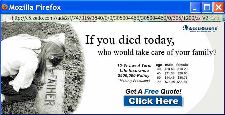 Image of fear ad