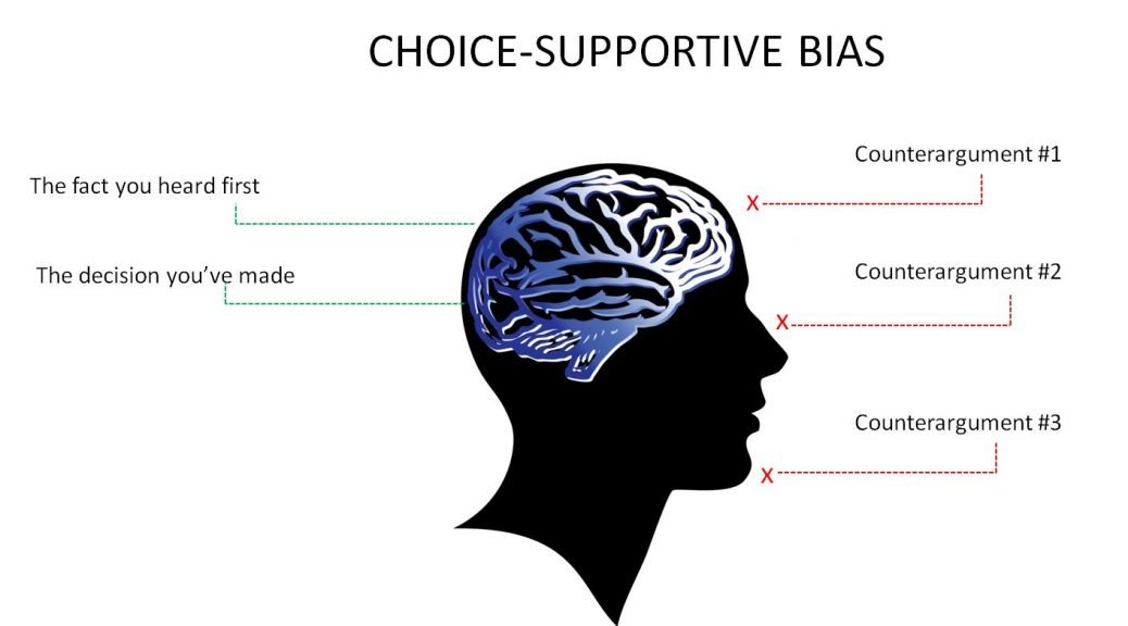 Choice-supportive bias leads us to rate our decisions better than they are and create a justification for it after the event