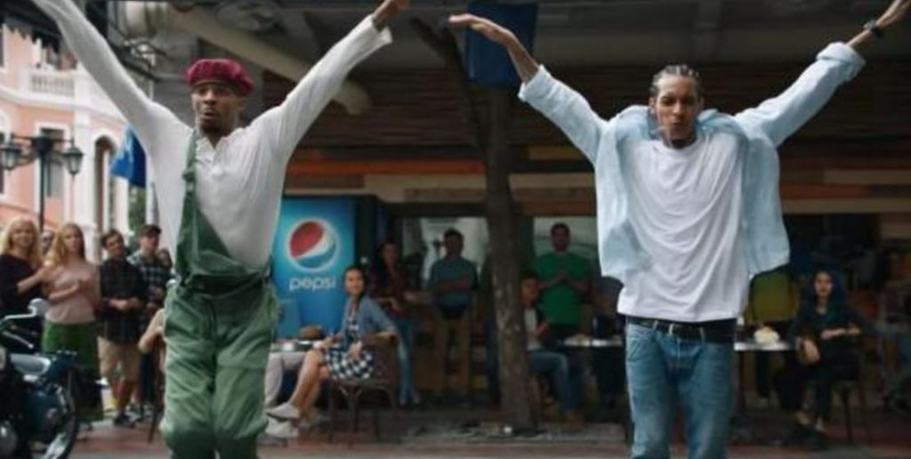 Image from Kendall Jenner Pepsi ad with people dancing