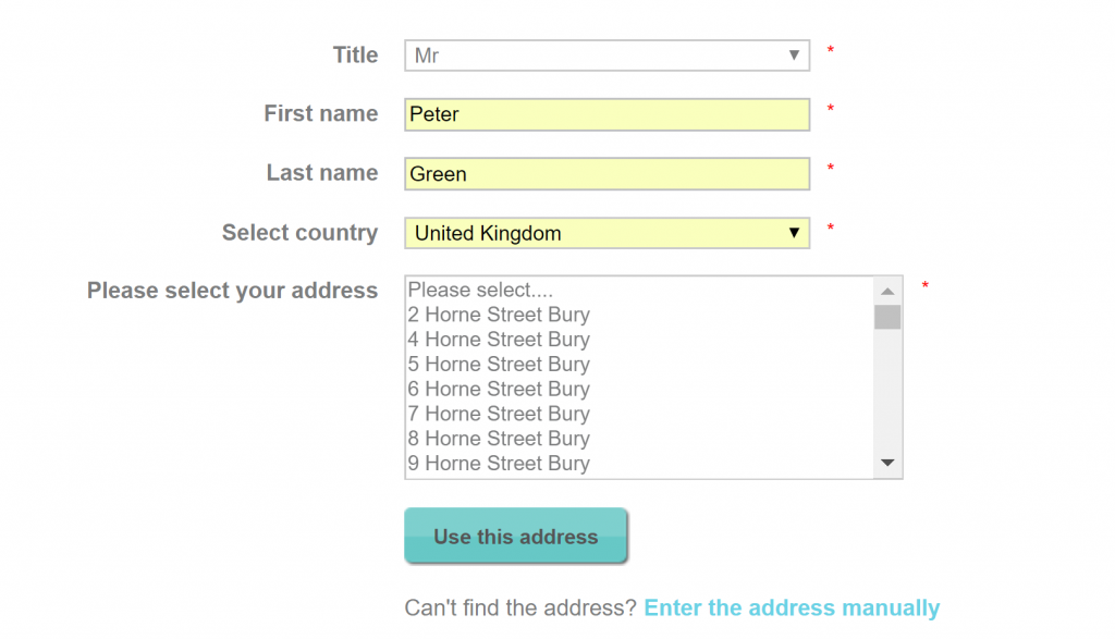Image of address finder from http://uk.lizearle.com/