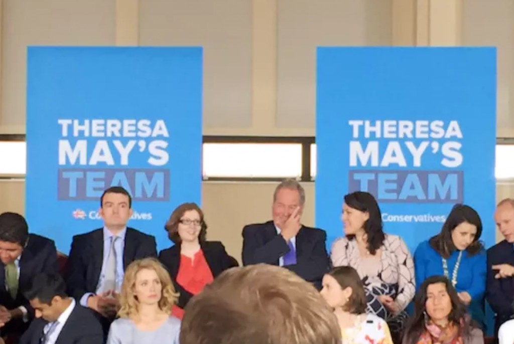 Image of Theresa May's Team at campaign rally