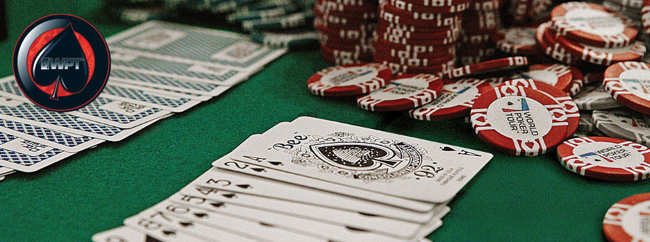 Image of poker chips and cards on the table