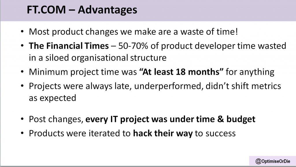 Image of advantages of FT.com corporate model for optimisation