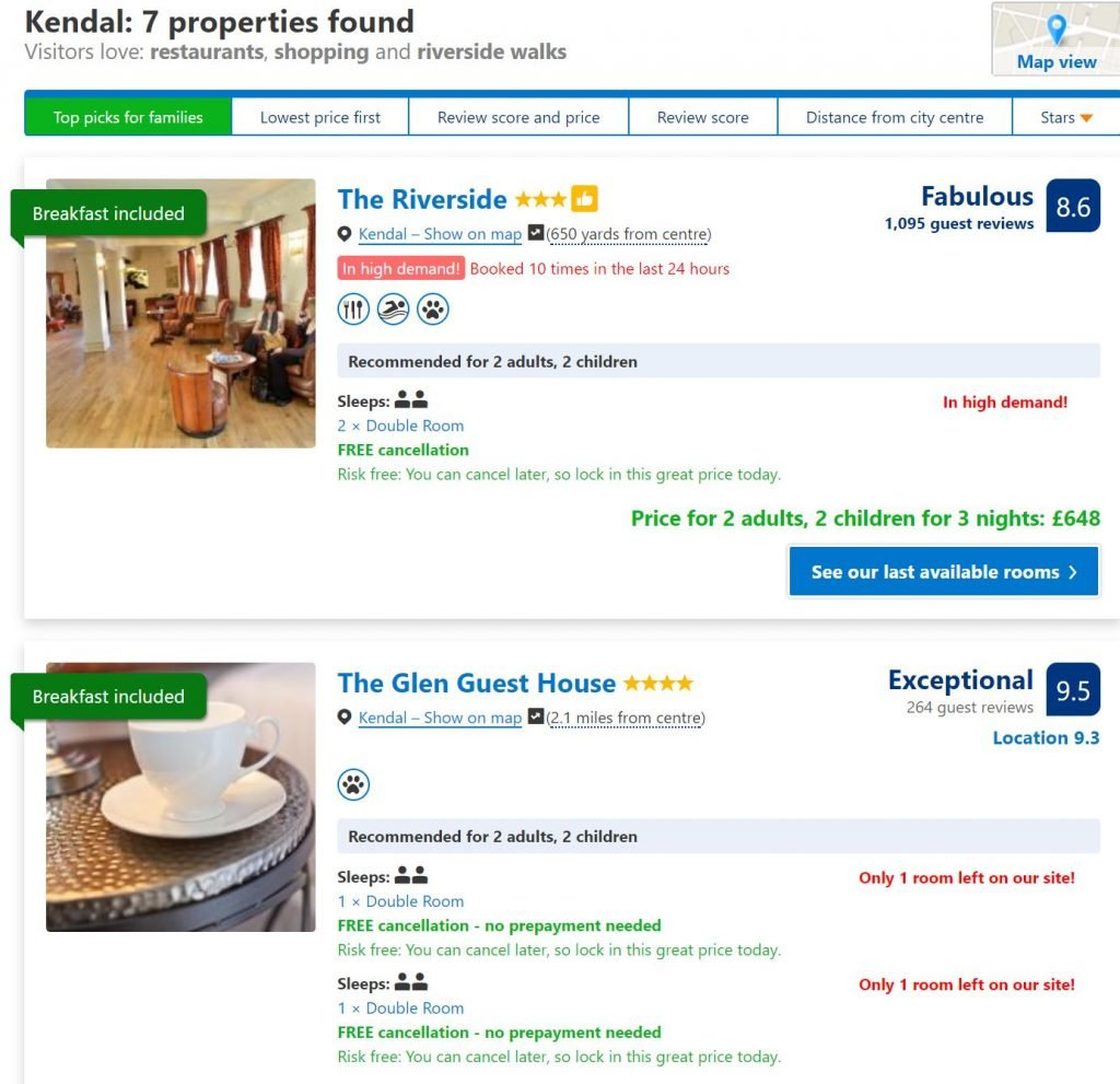 Image of Booking.com use of psychological persuasion techniques