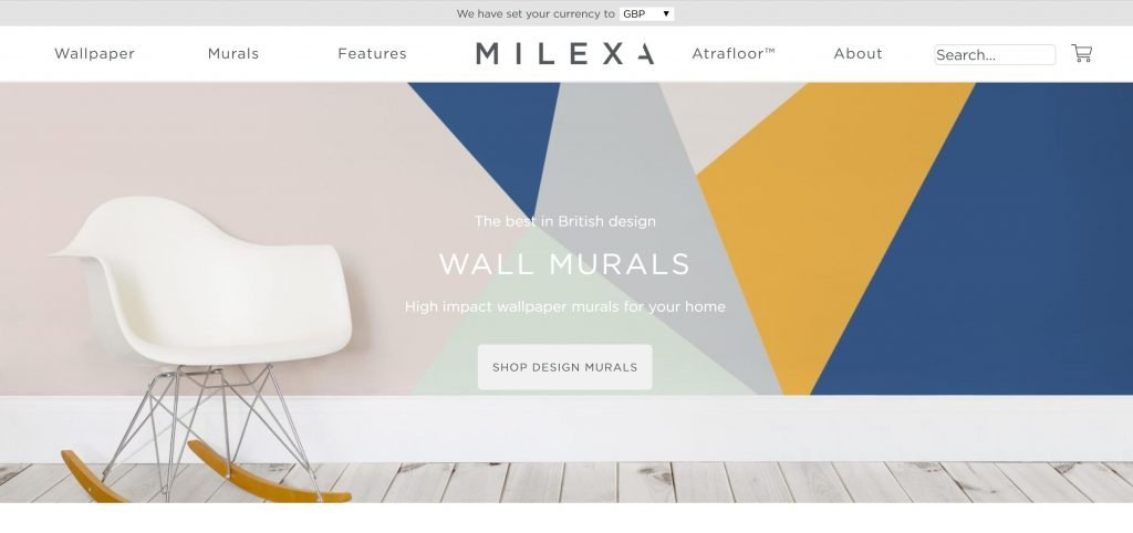 Milexa.com homepage lacks directional cues to prevent the perception of a false bottom