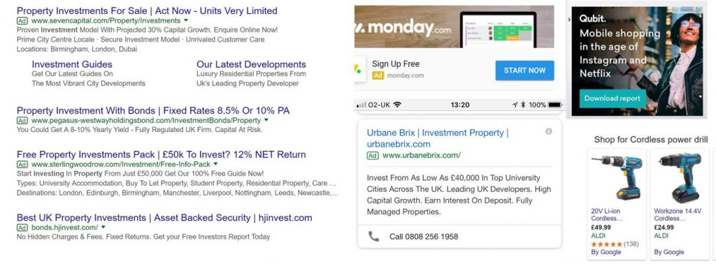 Images of PPC ads
