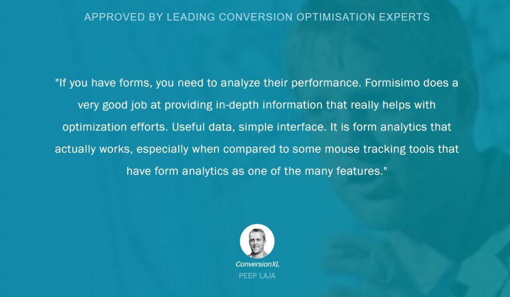 Image of testimonial from expert user Peep Laja