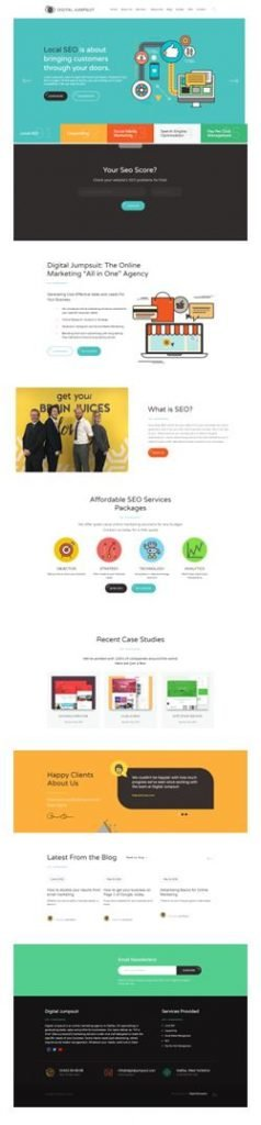 Image of homepage of digitaljumpsuit.com