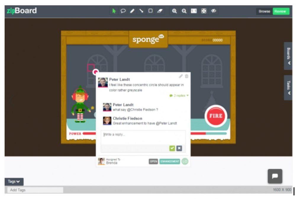 Visual feedback tool ZipBoard