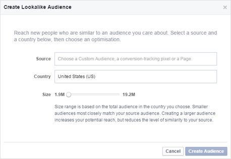 Image of Facebook lookalike audience