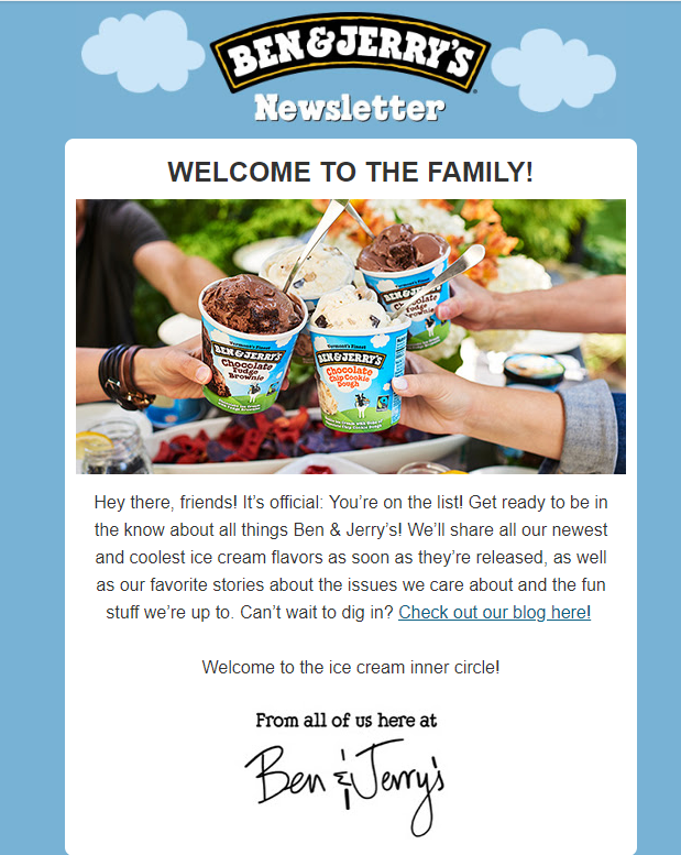 Ben & Jerrys marketing automation