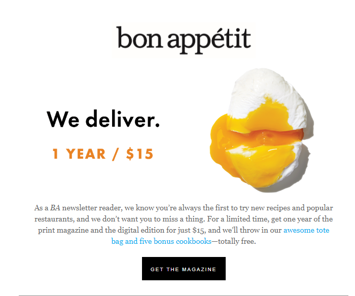 Bonappetit.com marketing automation