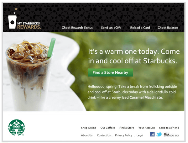 Starbucks marketing automation