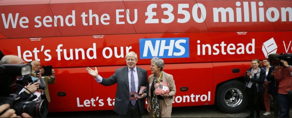 Boris Johnson Brexit bus lie