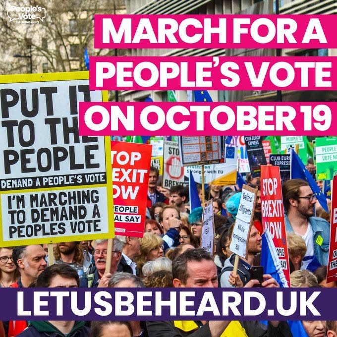 Peoples vote march 19th October 2019