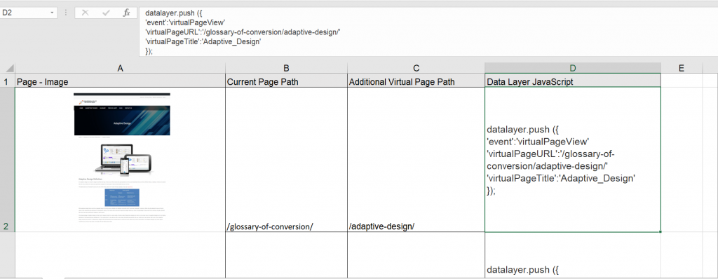 virtual pageviews for embedded application