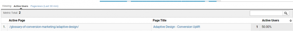Testing virtual page view in Google Analytics