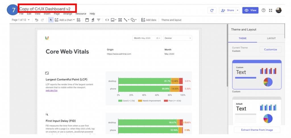 The Chrome UX report in Data Studio