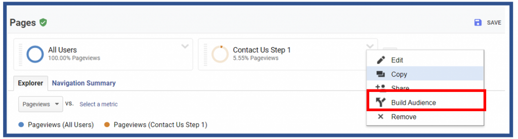 Build an audience for remarketing in Google Analytics
