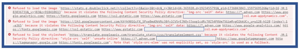 Refused to load image due to content security policy is a common Google Tag Manager mistake