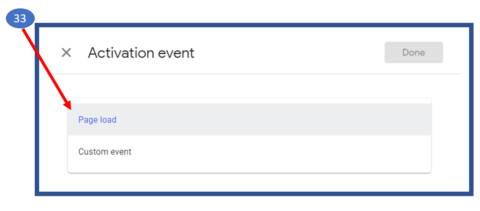 16. Activation Event in Google Optimize
