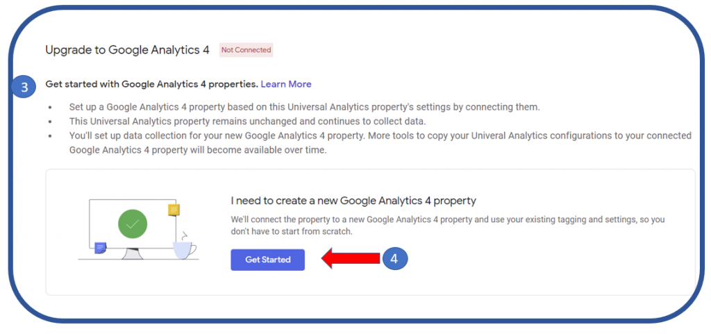2 Create a new Google Analytics 4 property