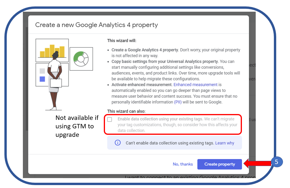 3. Create a Google Analytics 4 Property
