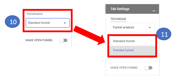 6 Select type of funnel analysis report