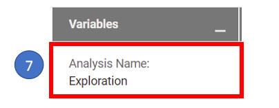 3. Variables tab - name