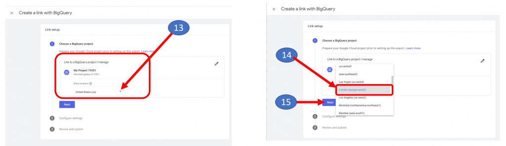 11. BigQuery Location and Next in GA4