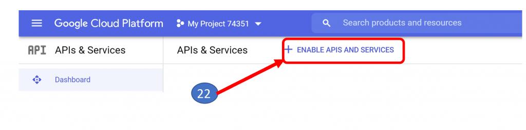 16. Enable APIs