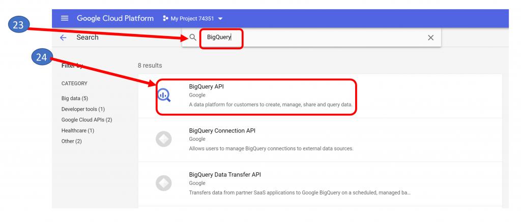 17. BigQuery API